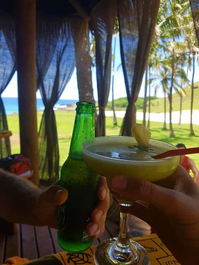 Cocktails on Easter Island