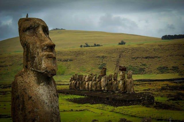 Moai's on Easter Island, Chile