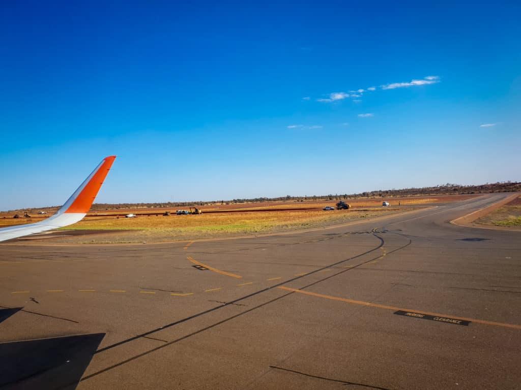 Tarmac at Ayers rock airport