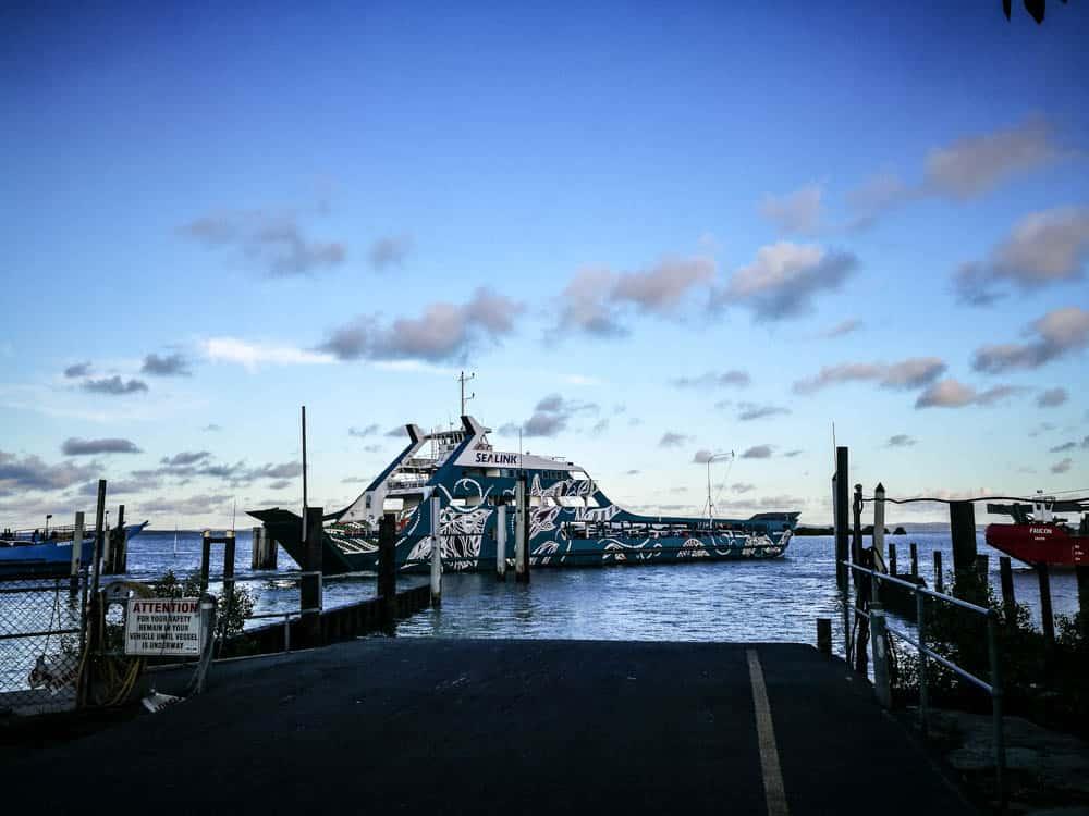 Stradbroke Island Barge that leaves from Cleveland, Brisbane