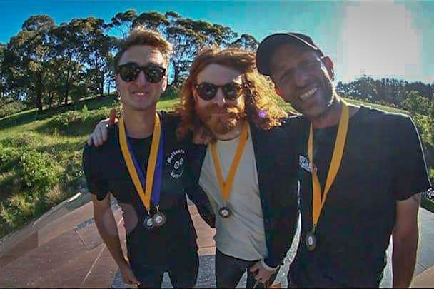 Winners of the Big Air comp at Mega Ranch Australia