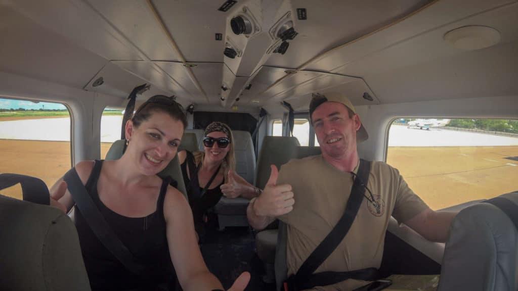 Ready to fly over Okavango Delta