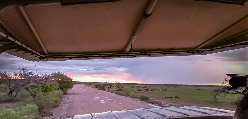 Heading out for our etosha night drive