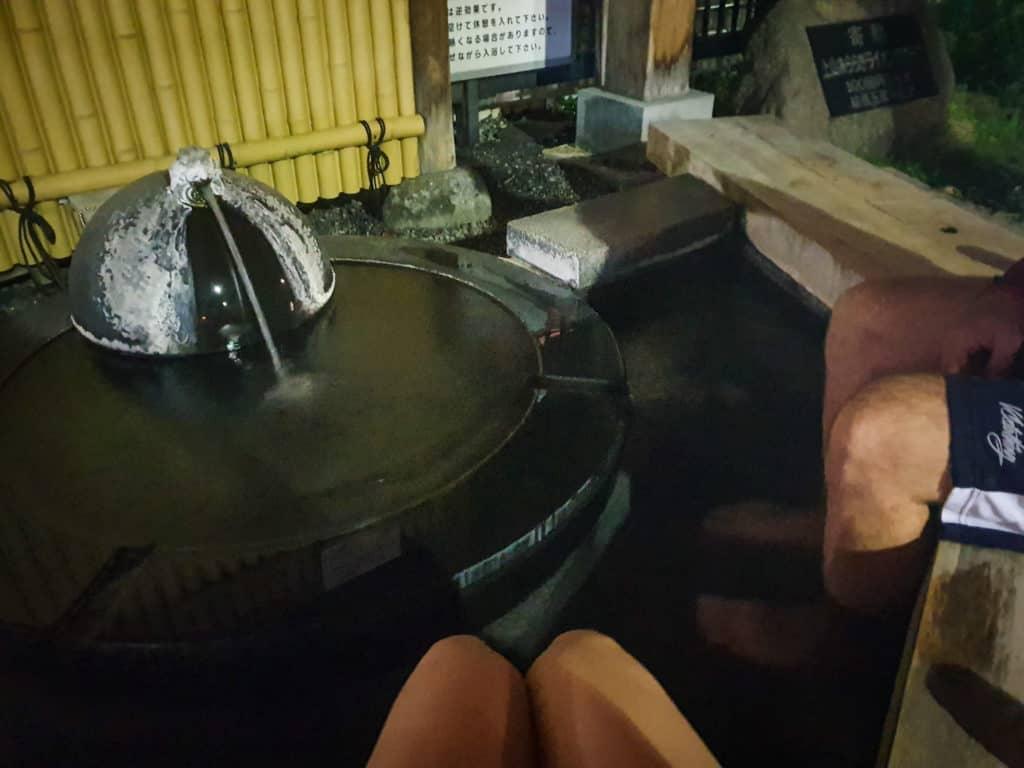 Foot spa Kaminoyama onsen