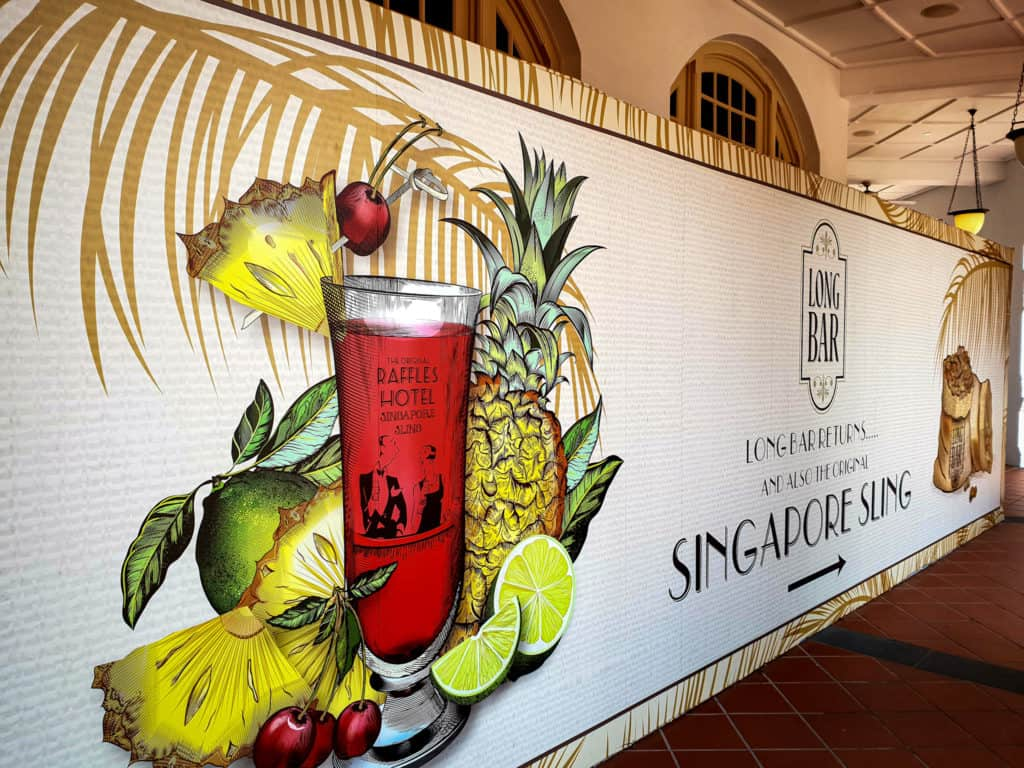 Long Bar home of the Singapore Sling