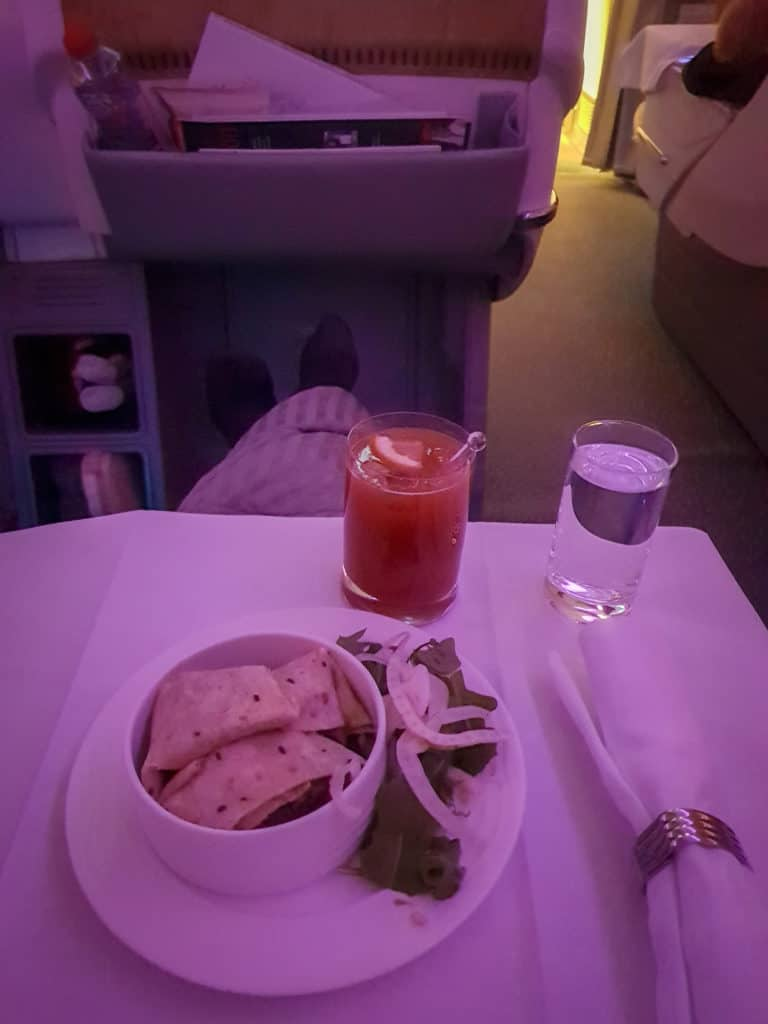 Late night snack business class style