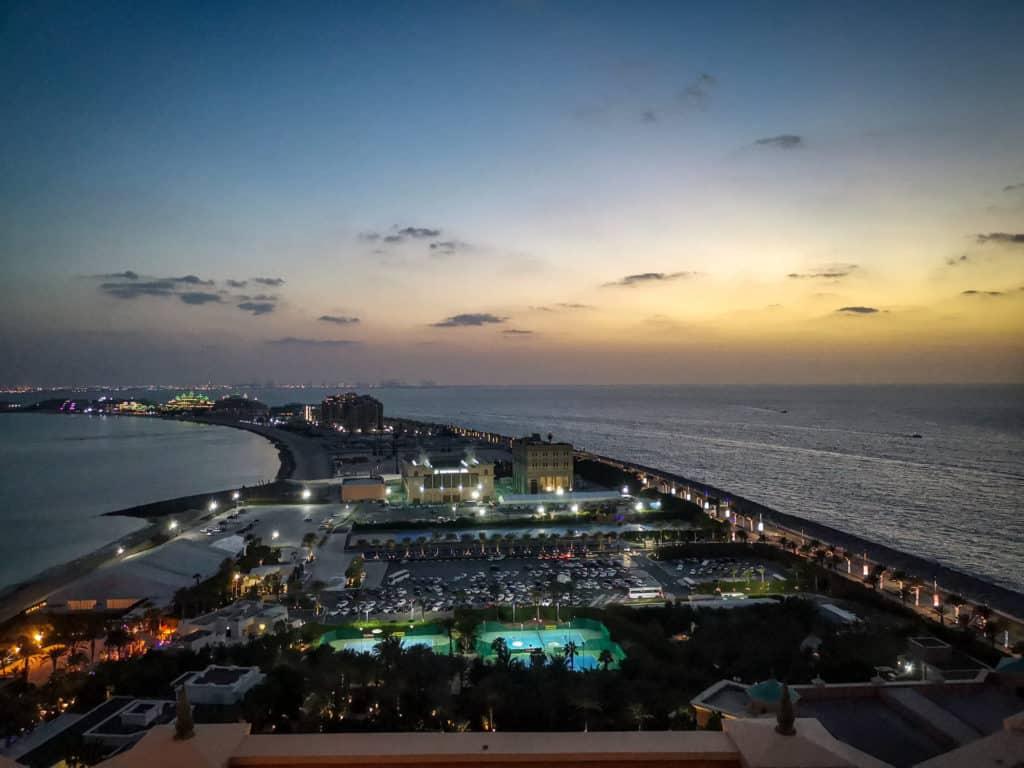 Top of Palm, Atlantis Dubai as night falls