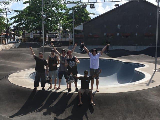 Crew at Amplitude skate park bali