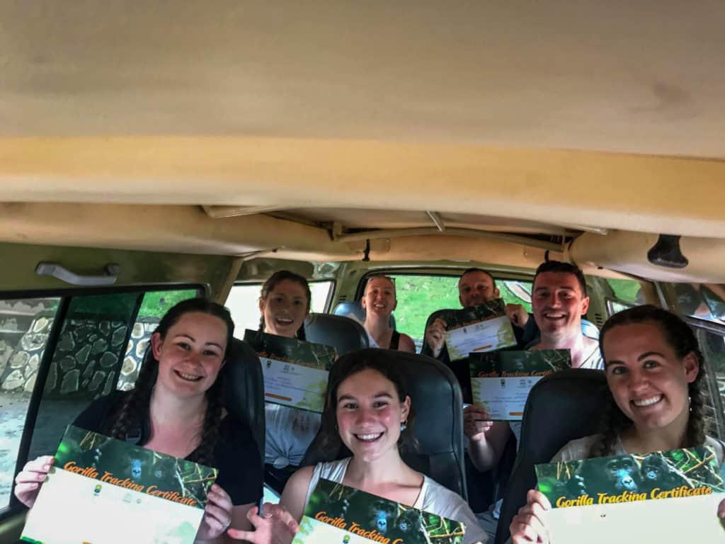 Gorilla trek certificates