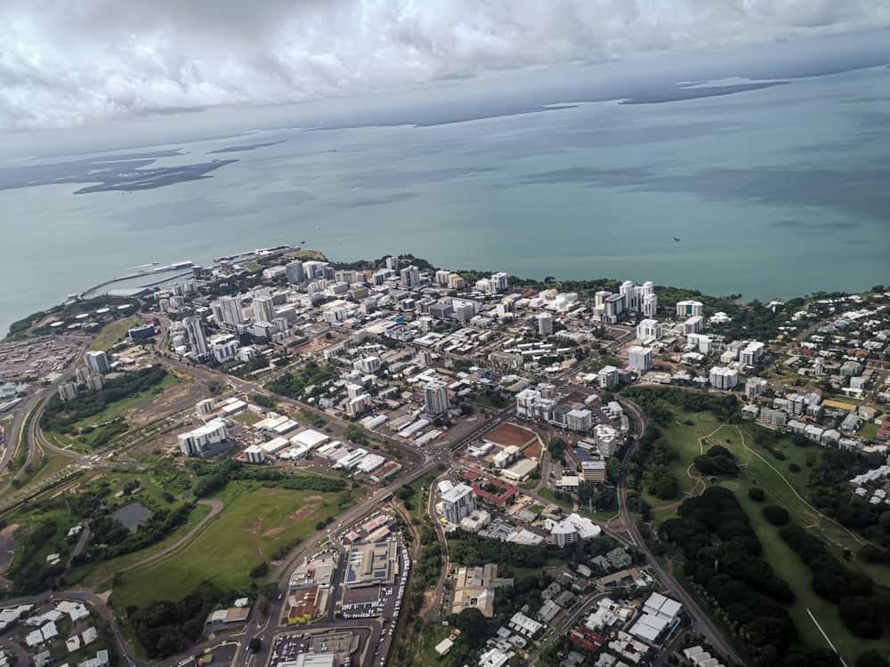 Darwin CBD from the air