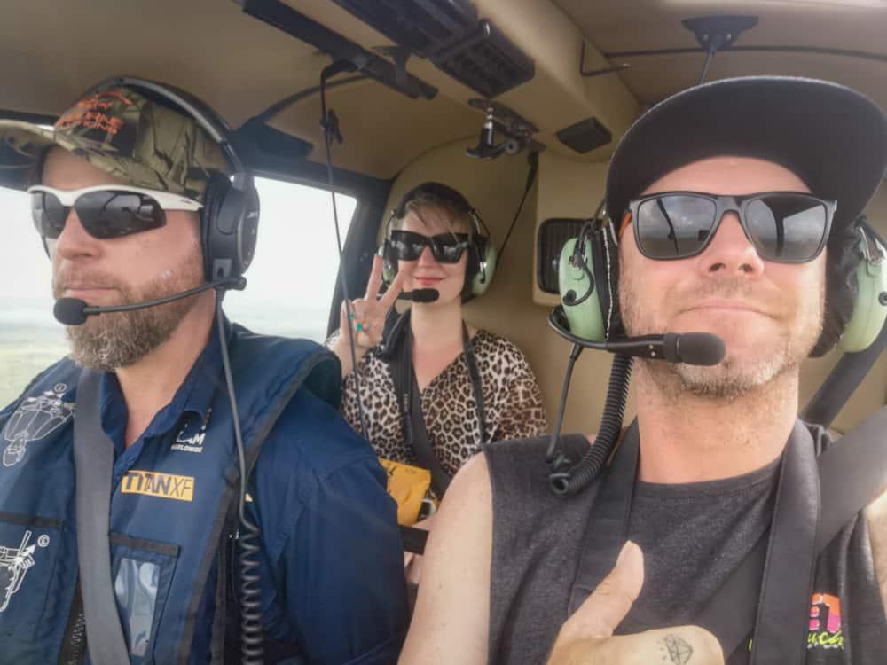Helicopter pub crawl Darwin