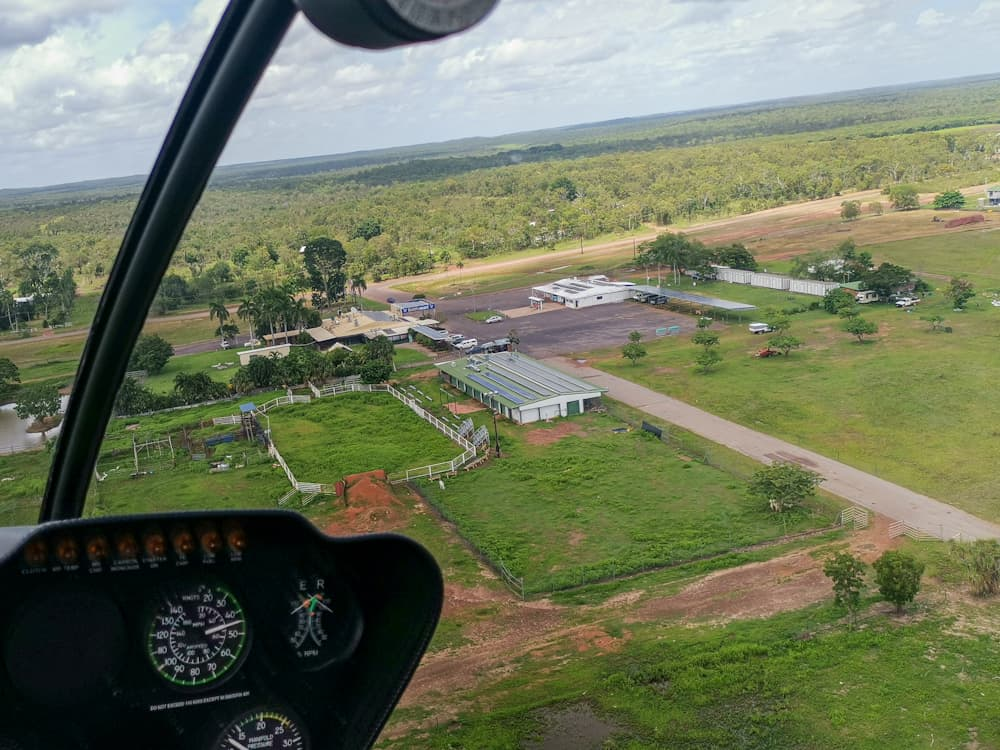 Darwin river tavern from the air