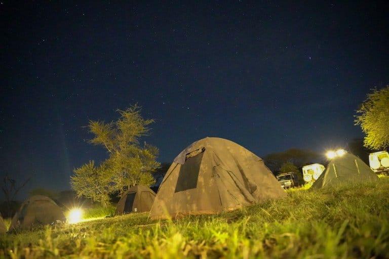 Serengeti bush camp and safari